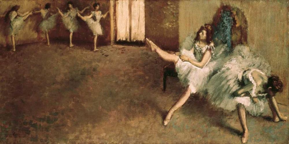 konfigurieren des Kunstdrucks in Wunschgröße Avant le ballet von Degas, Edgar