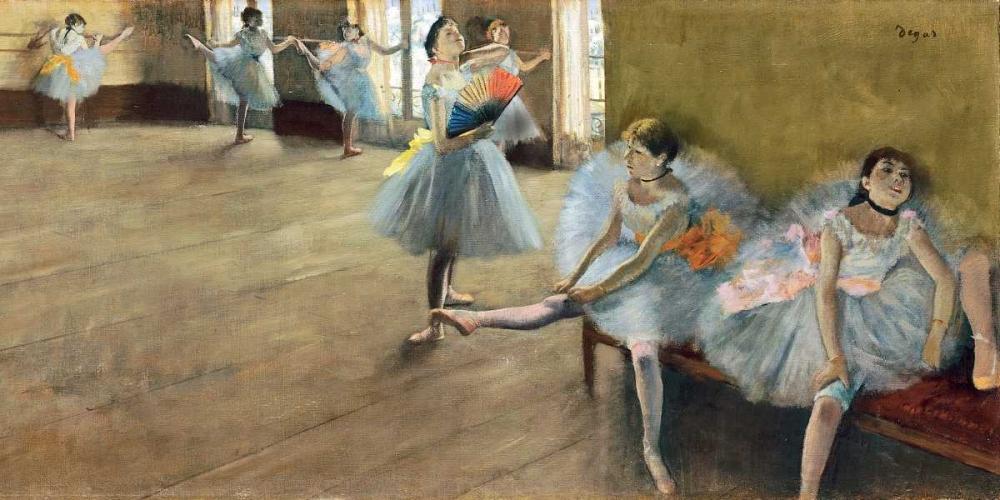 konfigurieren des Kunstdrucks in Wunschgröße The Dance Class (detail) von Degas, Edgar