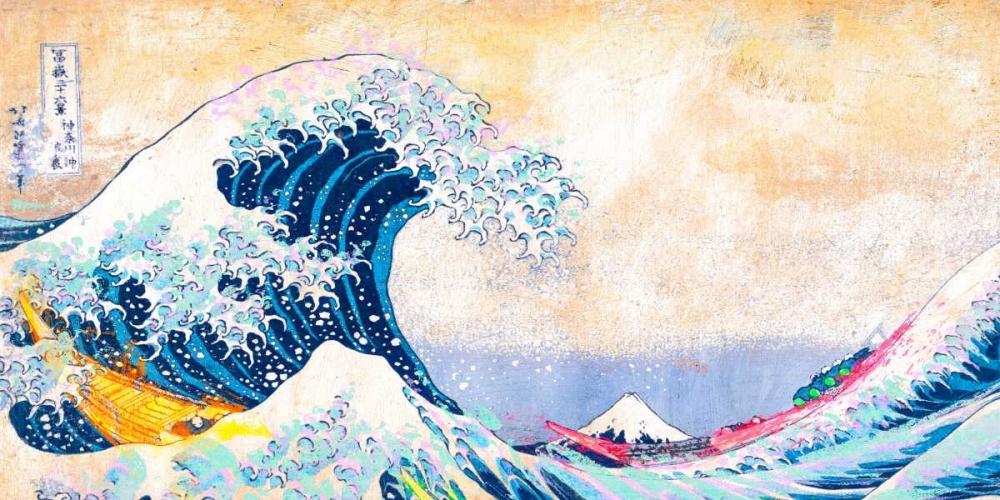 konfigurieren des Kunstdrucks in Wunschgröße Hokusais Wave 2.0 (detail) von Chestier, Eric