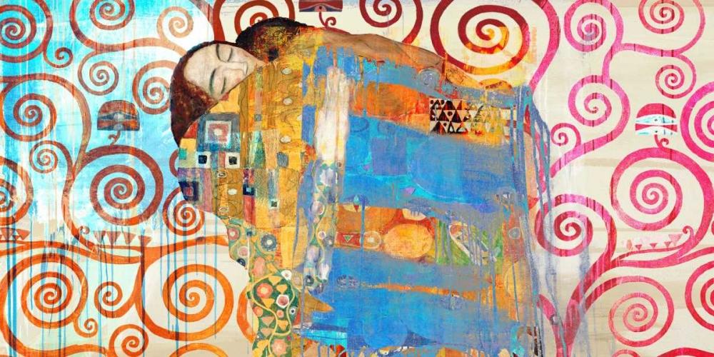 konfigurieren des Kunstdrucks in Wunschgröße Klimts Embrace 2.0 von Chestier, Eric