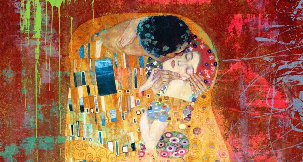 konfigurieren des Kunstdrucks in Wunschgröße Klimts Kiss 2.0 (detail) von Chestier, Eric