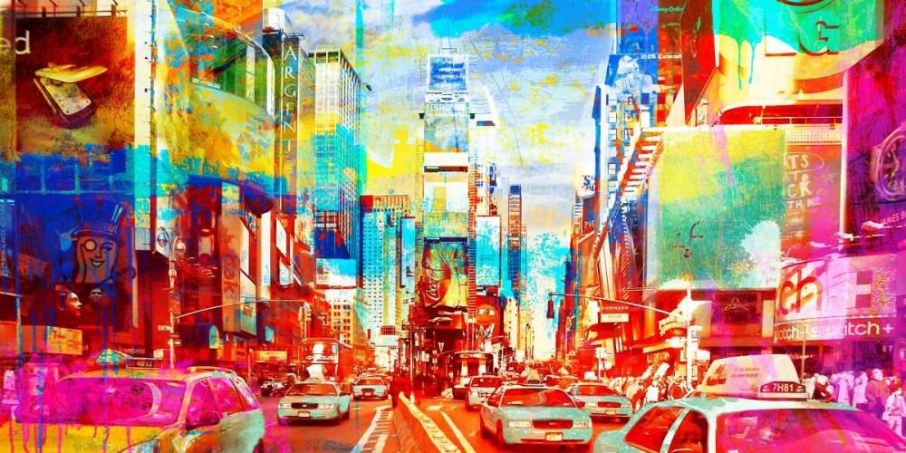 konfigurieren des Kunstdrucks in Wunschgröße Time Square 2.0 von Chestier, Eric