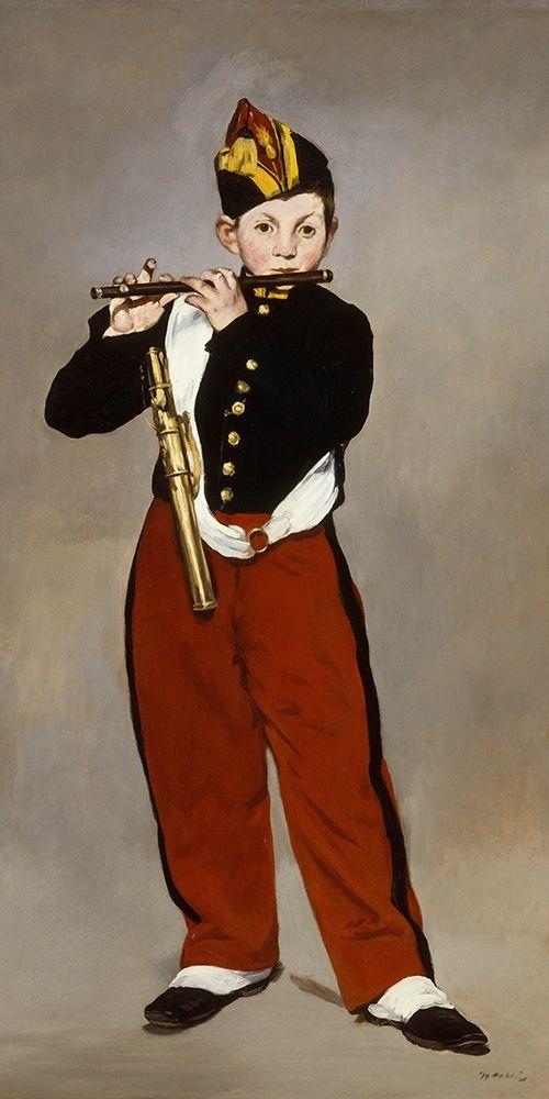 konfigurieren des Kunstdrucks in Wunschgröße The Young Flautist von Manet, Edouard