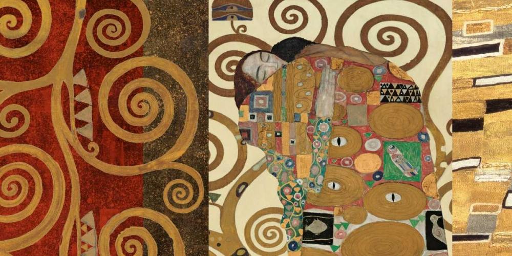 konfigurieren des Kunstdrucks in Wunschgröße The Embrace-Gold von Klimt, Gustav