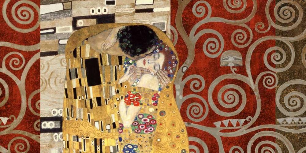 konfigurieren des Kunstdrucks in Wunschgröße The Kiss-Pewter von Klimt, Gustav