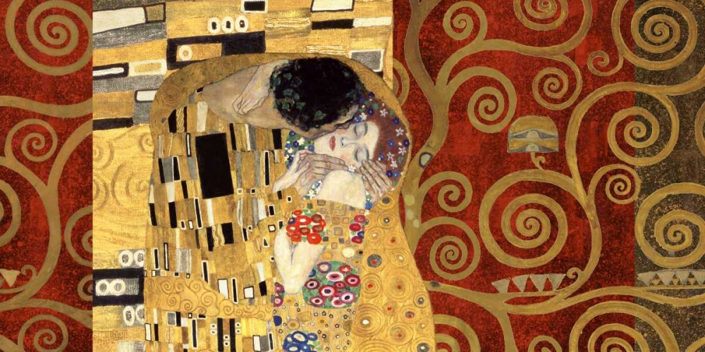konfigurieren des Kunstdrucks in Wunschgröße The Kiss-Gold von Klimt, Gustav