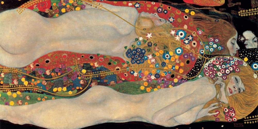 konfigurieren des Kunstdrucks in Wunschgröße Sea Serpents von Klimt, Gustav