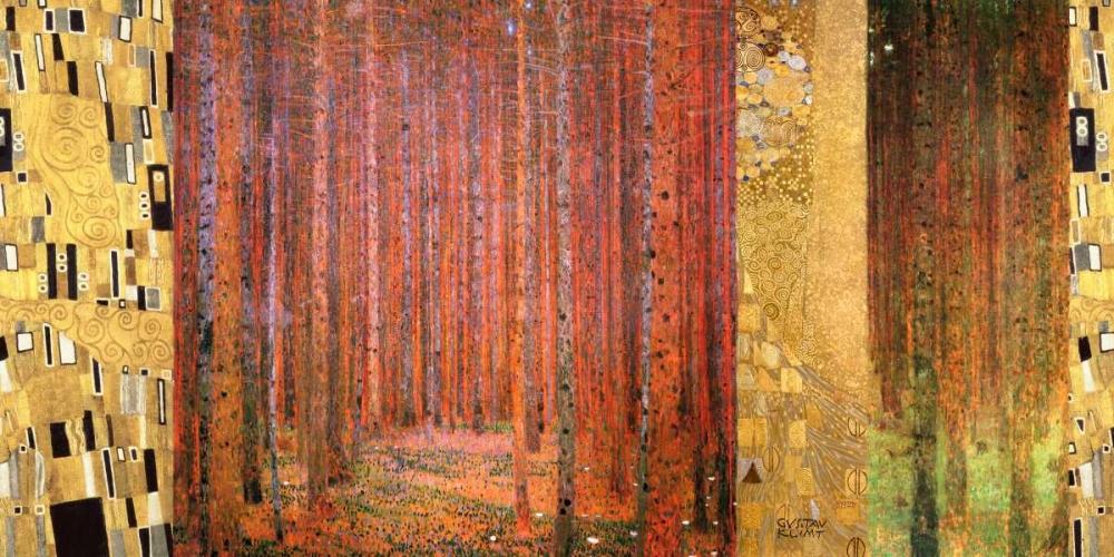 konfigurieren des Kunstdrucks in Wunschgröße Forest II von Klimt, Gustav