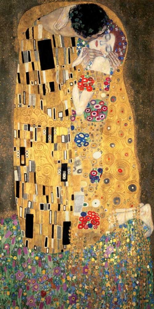 konfigurieren des Kunstdrucks in Wunschgröße The Kiss von Klimt, Gustav