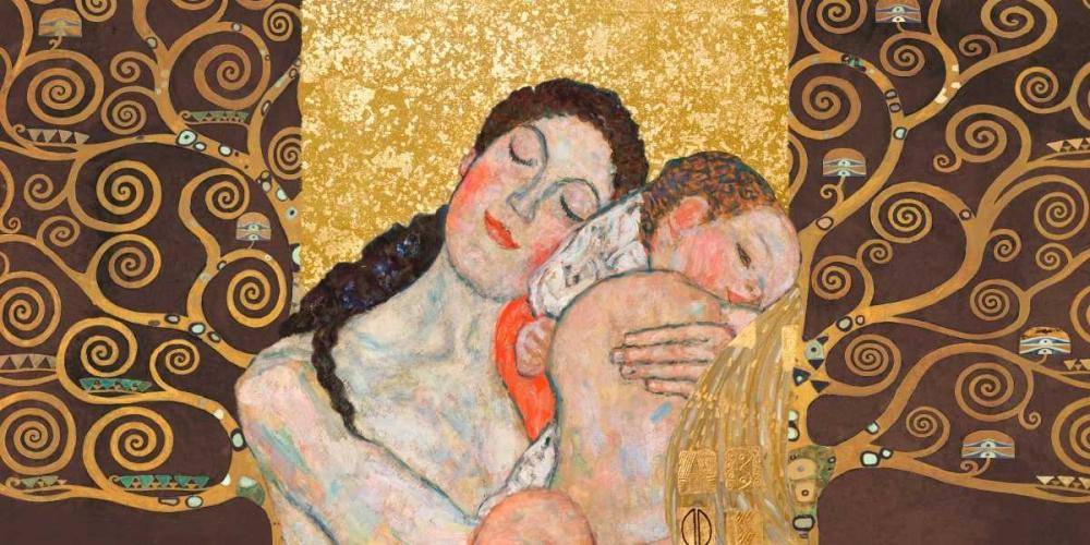 konfigurieren des Kunstdrucks in Wunschgröße Motherhood II von Klimt, Gustav
