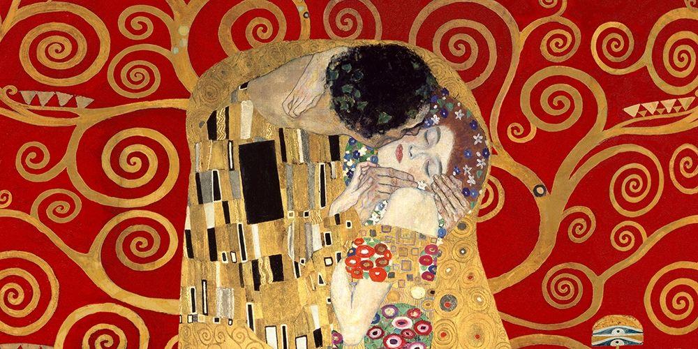 konfigurieren des Kunstdrucks in Wunschgröße The Kiss, detail (Red variation) von Klimt, Gustav