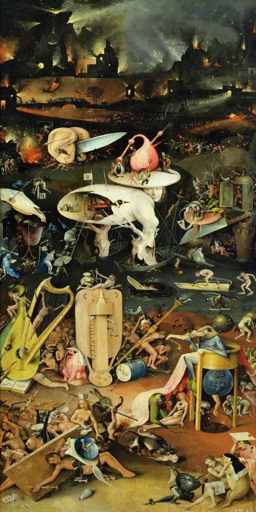 konfigurieren des Kunstdrucks in Wunschgröße The Garden of Earthly Delights III von Bosch, Hieronymus