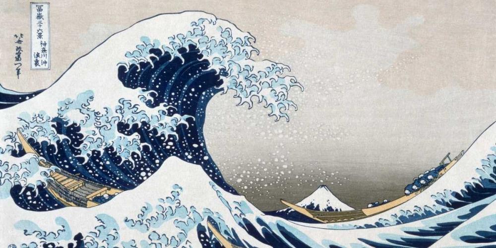 konfigurieren des Kunstdrucks in Wunschgröße The Wave off Kanagawa von Hokusai