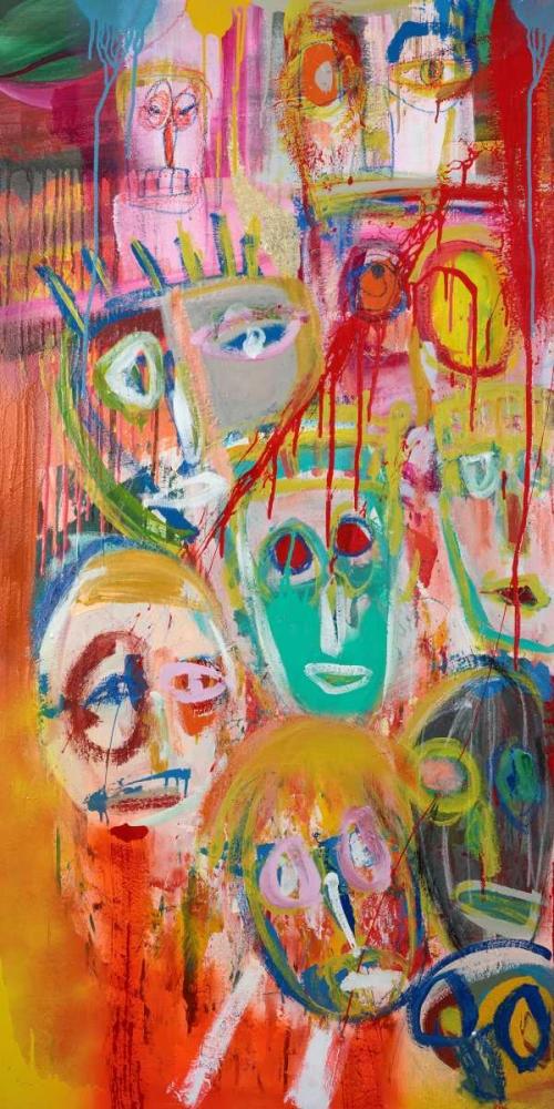konfigurieren des Kunstdrucks in Wunschgröße Facebook People II von Corrado, Italo