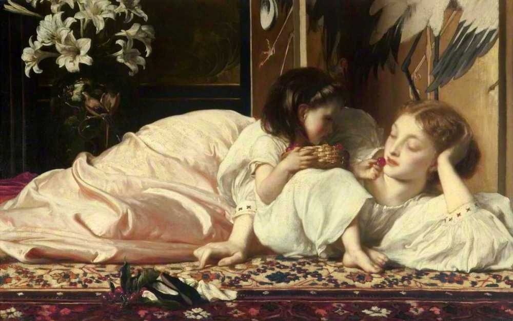 Mother and Child von Leighton, Frederic <br> max. 191 x 119cm <br> Preis: ab 10€