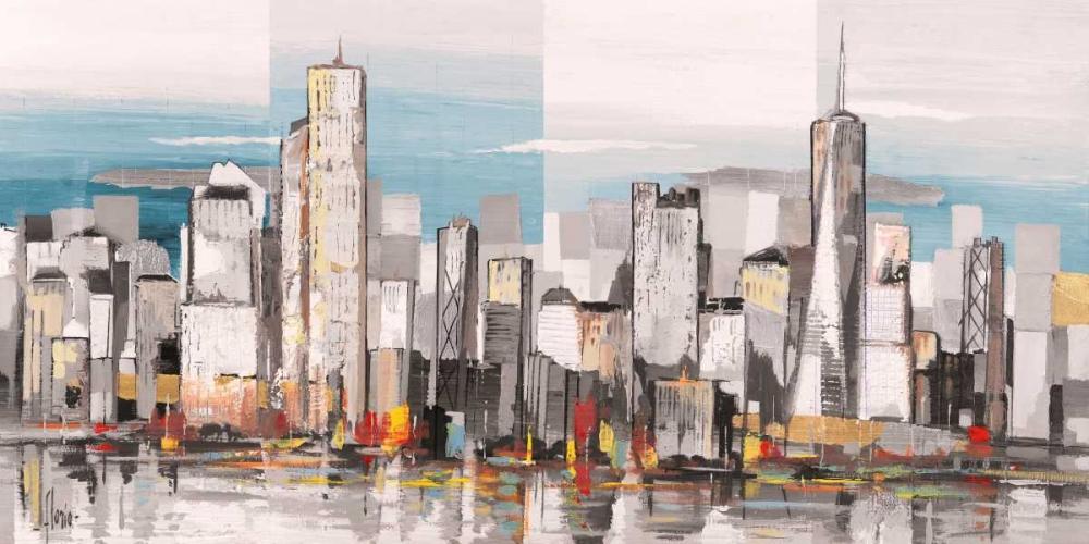 konfigurieren des Kunstdrucks in Wunschgröße Metropolis II von Florio, Luigi