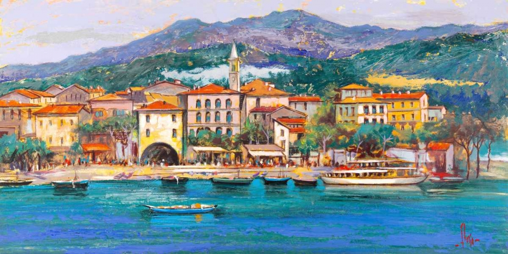 konfigurieren des Kunstdrucks in Wunschgröße Paese sul Lago von Florio, Luigi