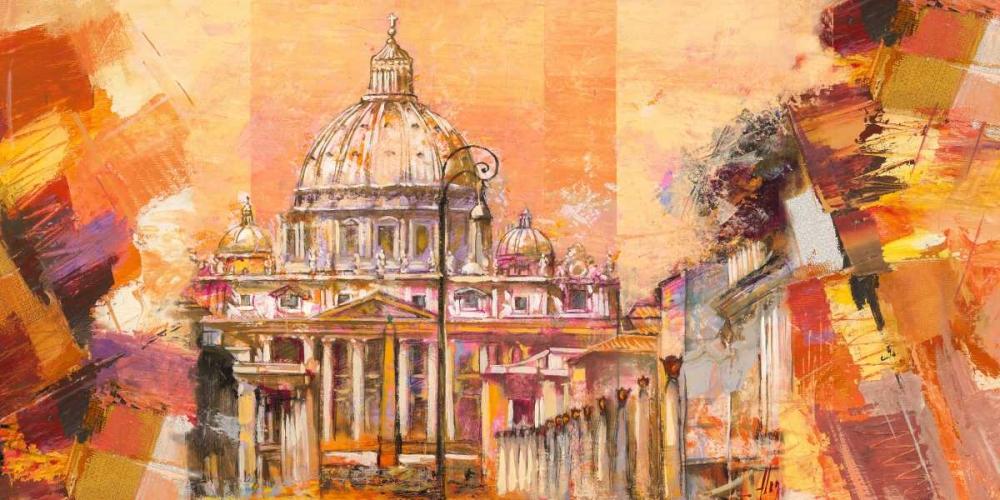 konfigurieren des Kunstdrucks in Wunschgröße Splendida Roma von Florio, Luigi