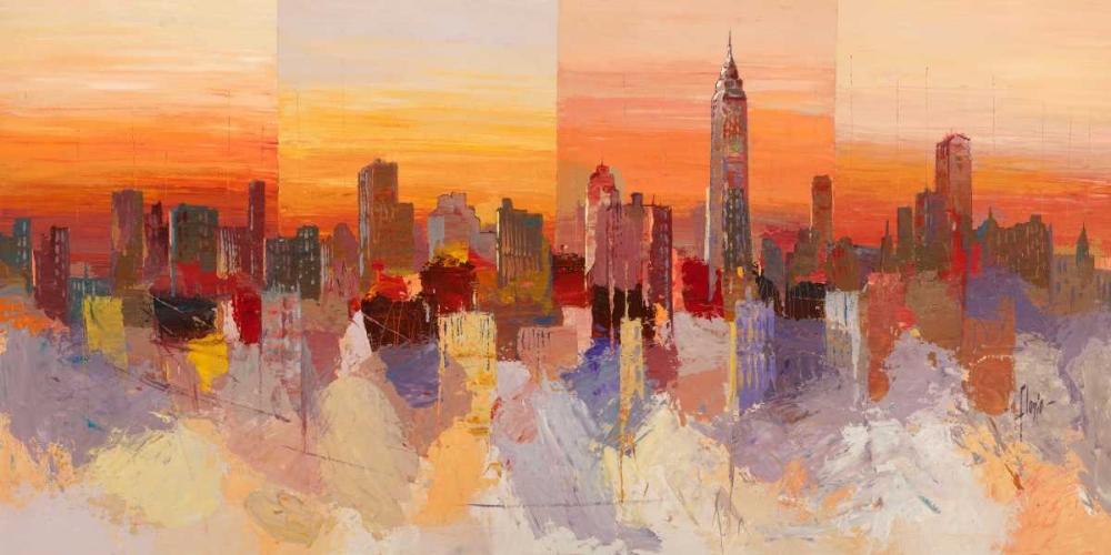 konfigurieren des Kunstdrucks in Wunschgröße Sognando New York von Florio, Luigi