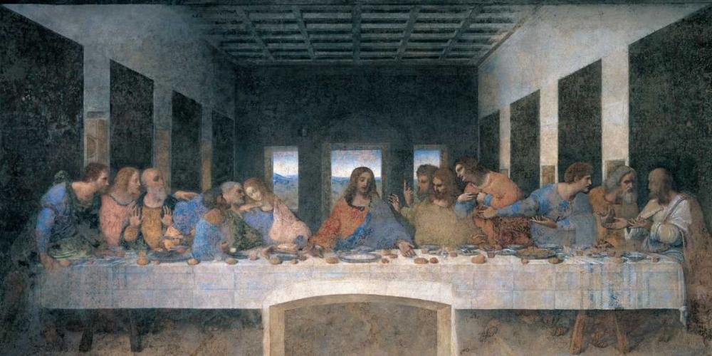 konfigurieren des Kunstdrucks in Wunschgröße L ultima cena von Da Vinci, Leonardo