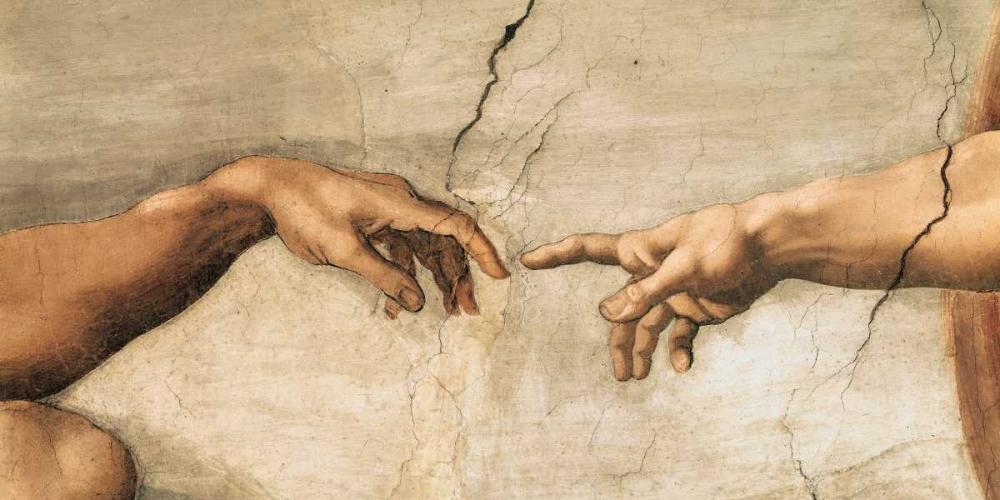 konfigurieren des Kunstdrucks in Wunschgröße La creazione di Adamo von Buonarroti, Michelangelo