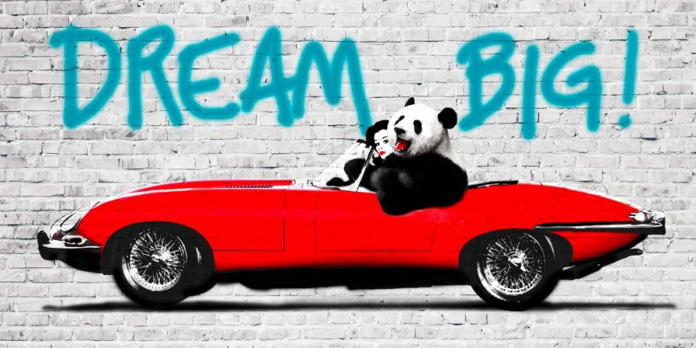 konfigurieren des Kunstdrucks in Wunschgröße Dream Big! von Masterfunk Collective