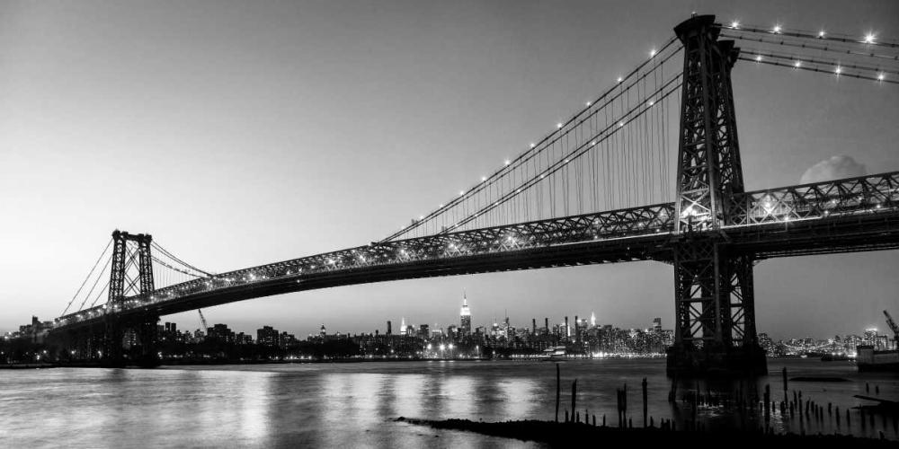 konfigurieren des Kunstdrucks in Wunschgröße Queensboro Bridge and Manhattan from Brooklyn, NYC von Setboun, Michel