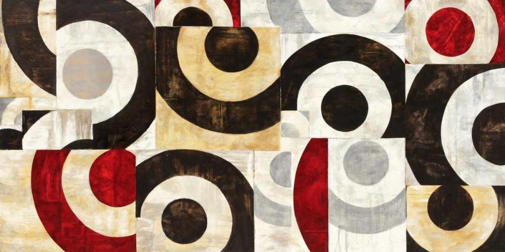 konfigurieren des Kunstdrucks in Wunschgröße Connessione geometrica von Nava, Sandro