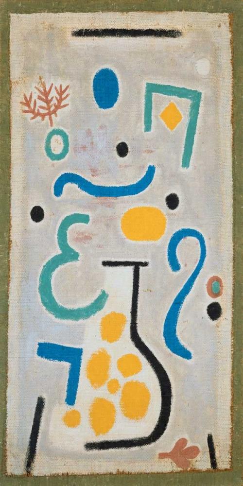 konfigurieren des Kunstdrucks in Wunschgröße Die Vase von Klee, Paul