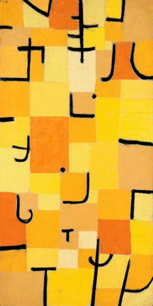 konfigurieren des Kunstdrucks in Wunschgröße Signs in Yellow von Klee, Paul