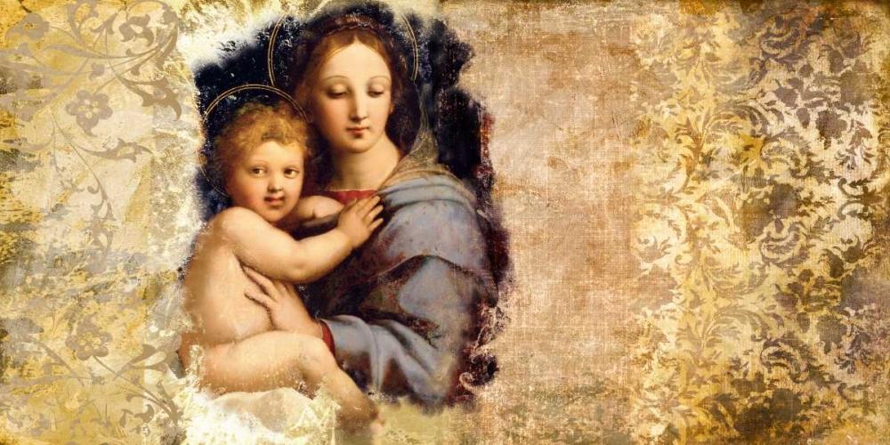 konfigurieren des Kunstdrucks in Wunschgröße Madonna del Candelabro-after Raffaello von Roux, Simon