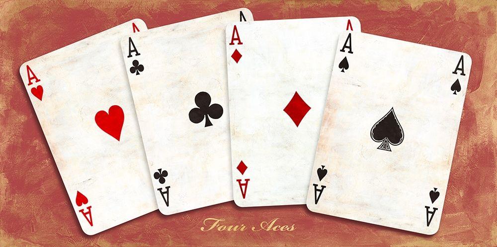 konfigurieren des Kunstdrucks in Wunschgröße Four Aces (Red) von Sandro, Ferrari