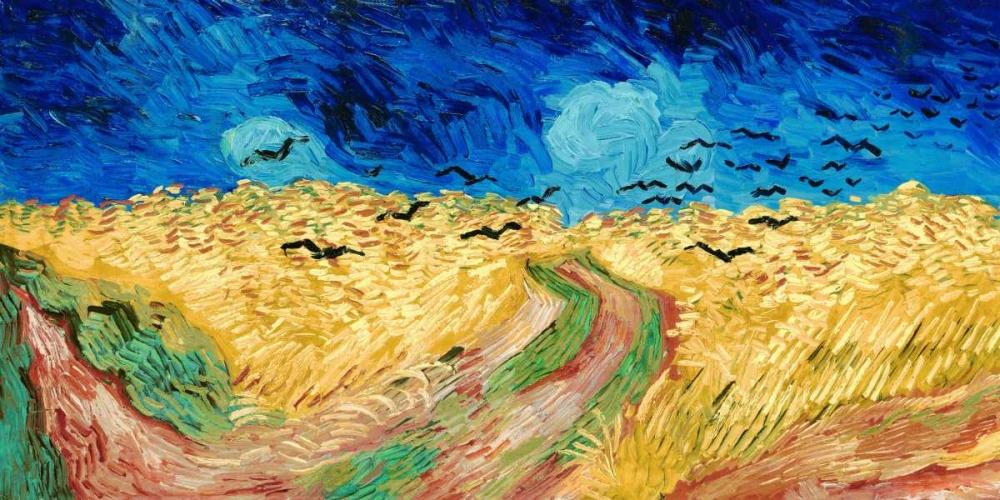 konfigurieren des Kunstdrucks in Wunschgröße Wheat Field with Crows von Van Gogh, Vincent