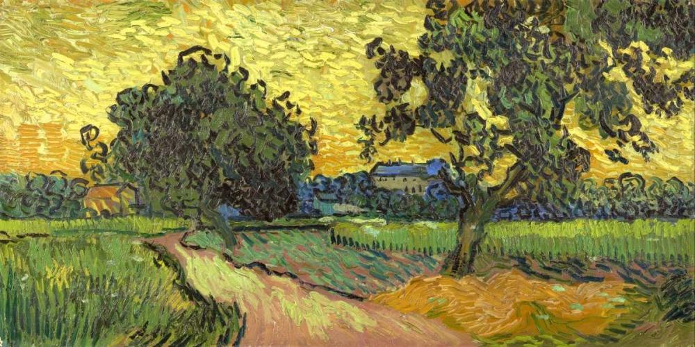 konfigurieren des Kunstdrucks in Wunschgröße Landscape at twilight von Van Gogh, Vincent