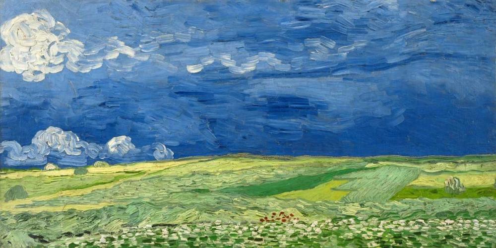 konfigurieren des Kunstdrucks in Wunschgröße Wheatfield under thunderclouds von Van Gogh, Vincent
