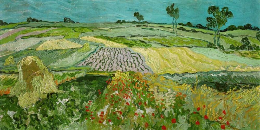 konfigurieren des Kunstdrucks in Wunschgröße La plaine dAuvers von Van Gogh, Vincent