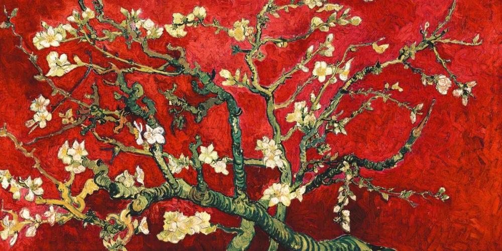 konfigurieren des Kunstdrucks in Wunschgröße Mandorlo in fiore (red variation, detail) von Van Gogh, Vincent