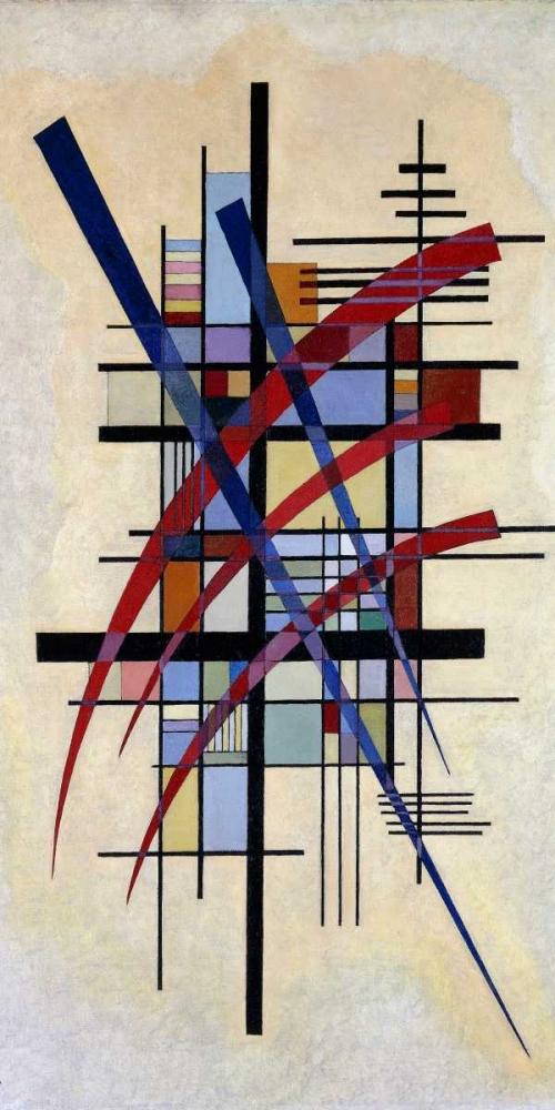 konfigurieren des Kunstdrucks in Wunschgröße Zeichen mit Begleitung von Kandinsky, Wassily