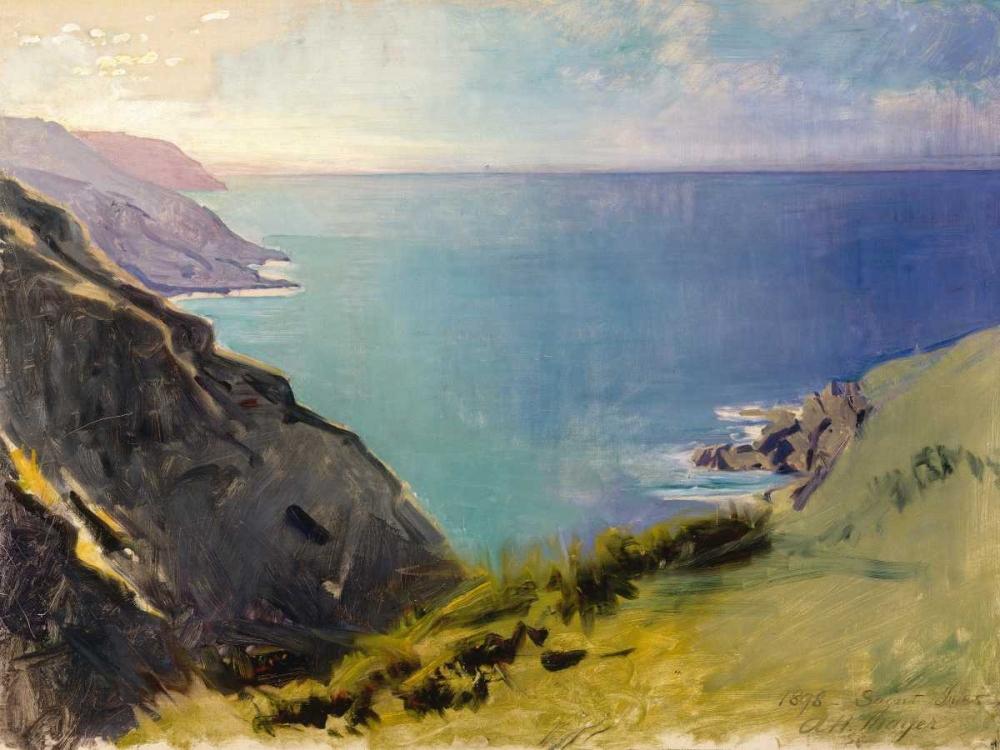konfigurieren des Kunstdrucks in Wunschgröße Cornish Headlands von Thayer, Abbott Handerson