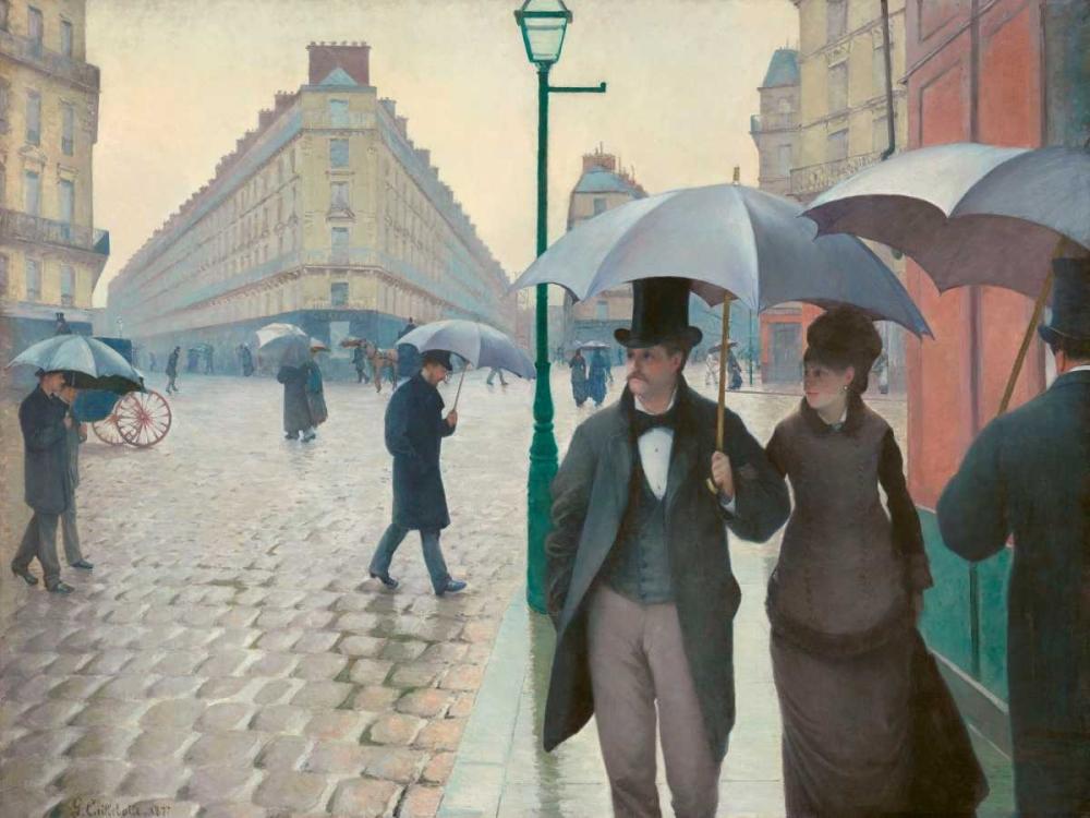 konfigurieren des Kunstdrucks in Wunschgröße Paris Street rainy day von Caillebotte, Gustave