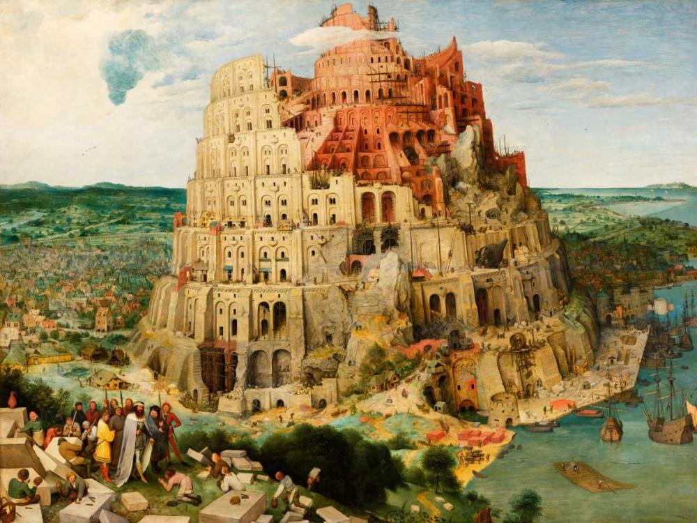 konfigurieren des Kunstdrucks in Wunschgröße The Tower of Babel von Bruegel, Pieter the Elder