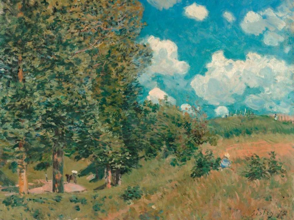 konfigurieren des Kunstdrucks in Wunschgröße The Road from Versailles to Saint-Germain von Sisley, Alfred