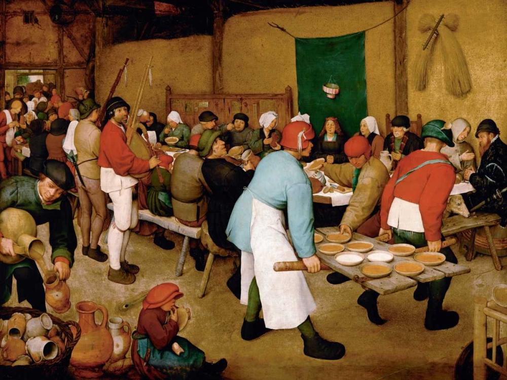 Peasant Wedding von Bruegel, Pieter the Elder <br> max. 155 x 117cm <br> Preis: ab 10€