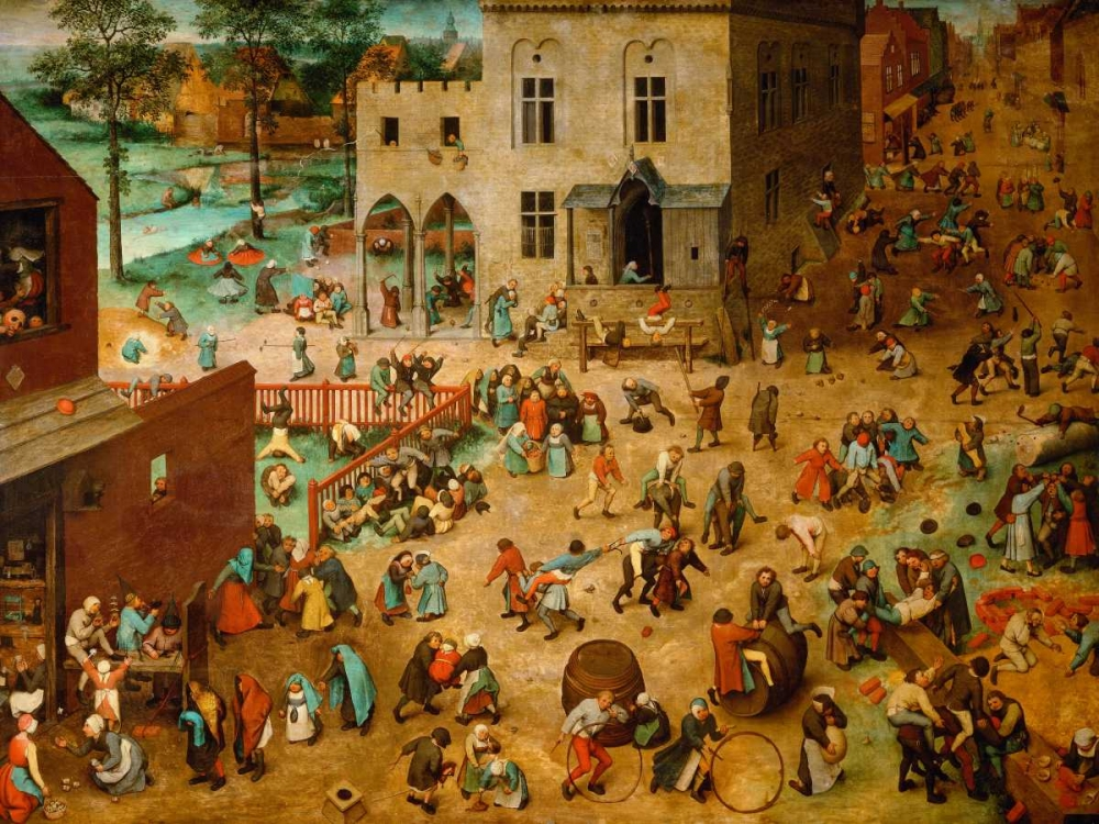 Children's Games von Bruegel, Pieter the Elder <br> max. 155 x 117cm <br> Preis: ab 10€