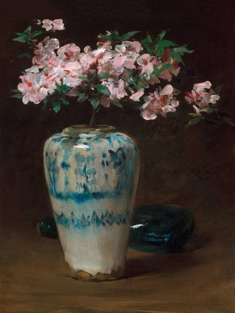 konfigurieren des Kunstdrucks in Wunschgröße Pink Azalea – Chinese Vase von Einzelbilder