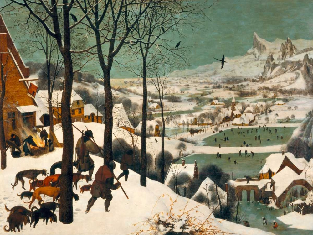 konfigurieren des Kunstdrucks in Wunschgröße Hunters in the Snow (Winter) von Bruegel, Pieter the Elder