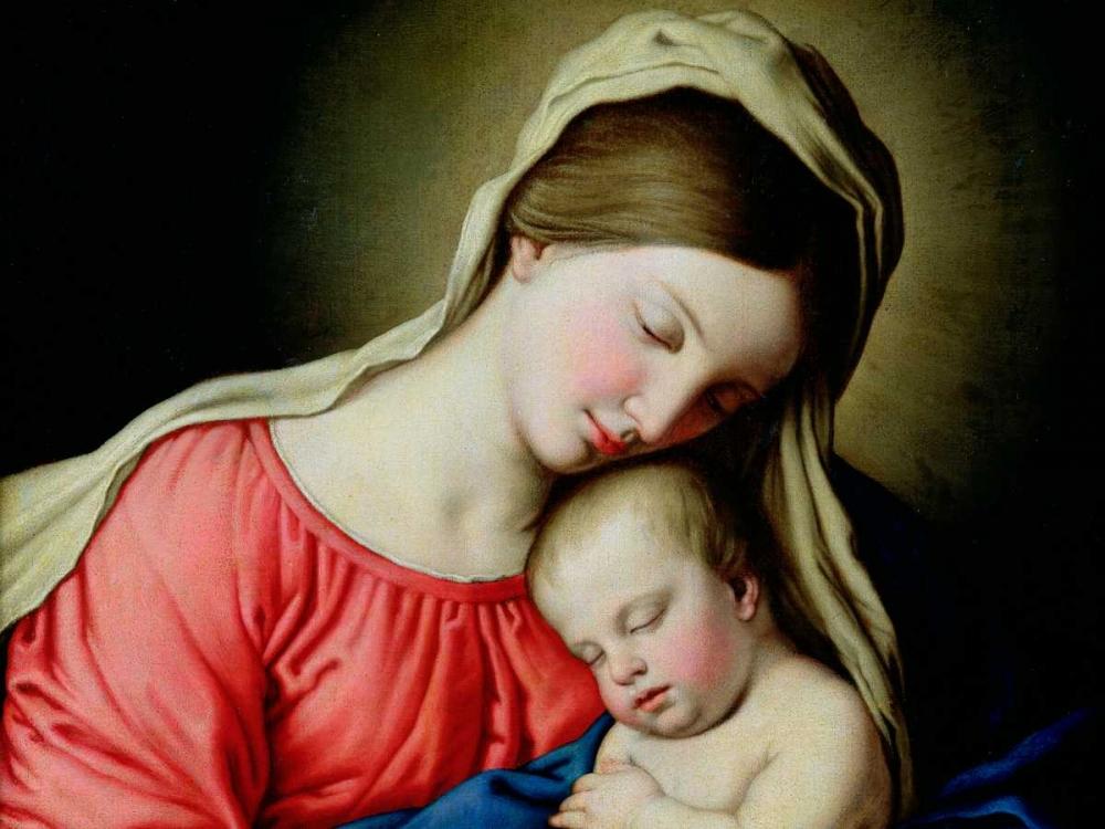 konfigurieren des Kunstdrucks in Wunschgröße Beata Vergine con Bambino von Sassoferrato