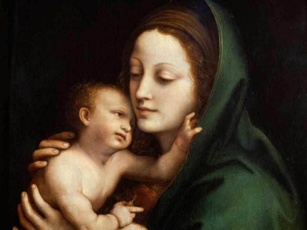 konfigurieren des Kunstdrucks in Wunschgröße Madonna con Bambino von Anonymous