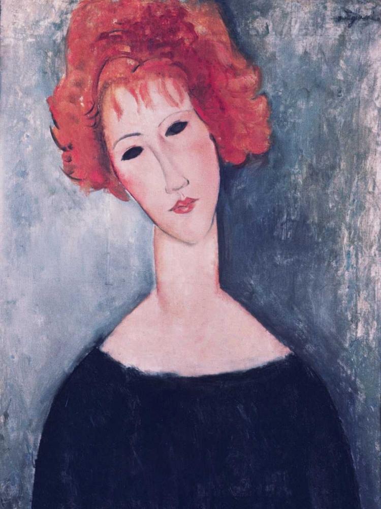 konfigurieren des Kunstdrucks in Wunschgröße Red Head von Modigliani, Amedeo