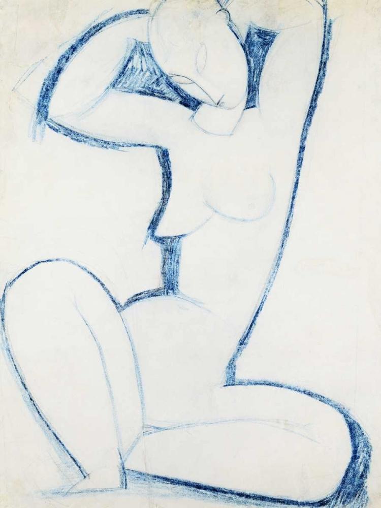konfigurieren des Kunstdrucks in Wunschgröße Blue Caryatid II von Modigliani, Amedeo